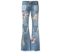 Ausgestellte Jeans in Distressed-Optik