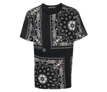T-Shirt mit Bandana-Print