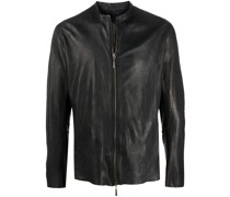 whipstitch leather jacket