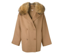 Mantel mit Pelzkragen