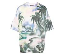 T-Shirt mit Palmen-Print
