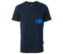 checked pocket T-shirt