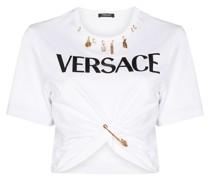 charm-embellished logo-print T-shirt