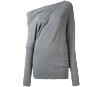 Kaschmir-Pullover mit freier Schulter