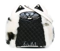 'kitty' motif crossbody bag