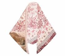 mix-print silk scarf