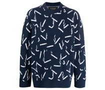 Pullover mit Zigaretten-Print