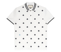 Cotton polo with bees and stars - men