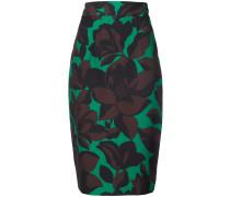 macro floral print skirt