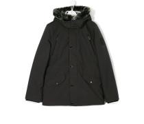 teen faux-fur embellished parka coat