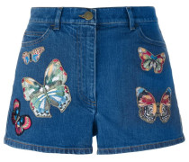 'Jamaica Butterflies' Jeans-Shorts