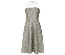 textured flare dress
