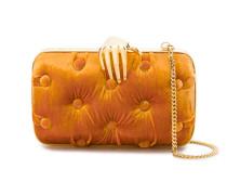 Orange Carmen Velvet Clutch Bag with Hand Embellishment