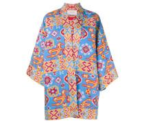 Kimonojacke mit Jacquardmusterung