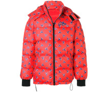 The Memento Collection floral padded hooded coat