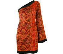 - Asymmetrisches Kleid mit Schlangenleder-Print
