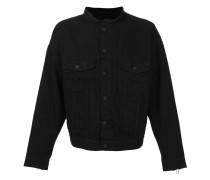 Kragenlose Jacke mit Knopfverschluss