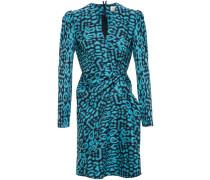 Draped Leopard Print Dress