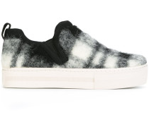 Kariertes Slip-On-Sneakers