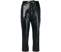 vinyl cropped trousers