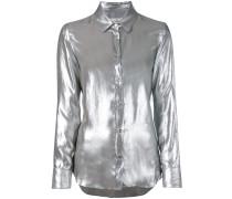 - shiny long-sleeve shirt - women - Nylon/Bemberg