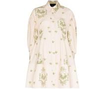 Hemdkleid mit Korsett-Detail