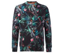 Jacke mit tropischem Print