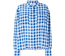 Oversized-Hemd mit Vichy-Karomuster