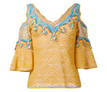 Bestickte Bluse mit schulterfreiem Design