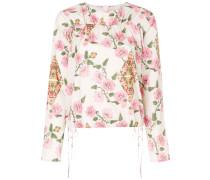 Rüschenbluse mit floralem Print