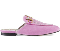 Princetown velvet slipper with crystals