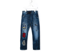 Jeans mit College-Patches