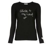"""Pullover mit """"Close to my Heart""""-Muster"""