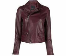 Cropped-Jacke aus Leder