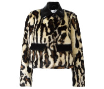 Cropped-Jacke mit Animal-Muster