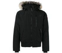 Borden fur-trimmed bomber jacket