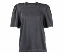T-Shirt mit gerafften Schultern