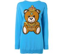 Intarsien-Pullover mit Teddybärmotiv - women