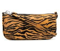 Schultertasche mit Tiger-Print