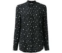 Seidenhemd mit Sterne-Print - women - Seide - XS
