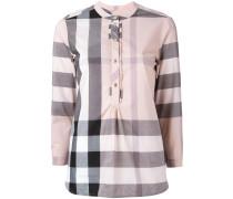 'House Check' Hemd mit Rüschen - women