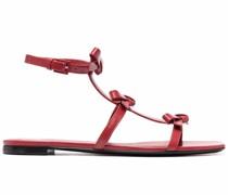 Flatform-Sandalen mit Schleife