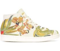 floral jacquard hi-top sneakers