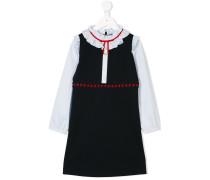 Kleid mit gerüschtem Ausschnitt