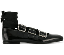 lace-up buckled ballerinas