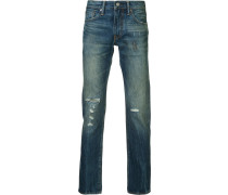 Schmale Jeans im Used-Look