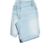 Gewickelter Jeans-Minirock