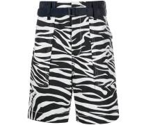 Shorts mit Zebra-Print