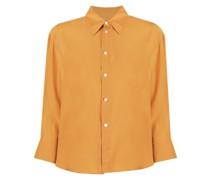 button-up silk shirt