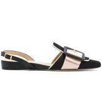 Slingback-Pumps mit Schnalle